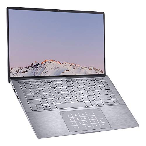 ASUS ZenBook UM433IQ Full HD 14' Laptop (AMD Ryzen 7 4700U, Nvidia GeForce MX350 Graphics, 8GB RAM, 512GB PCIe SSD, Windows 10) - Includes LED NumberPad, Light Grey