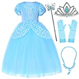 Party Chili Princess Costume for Girls Dress Up with Accessories 4T 5T
