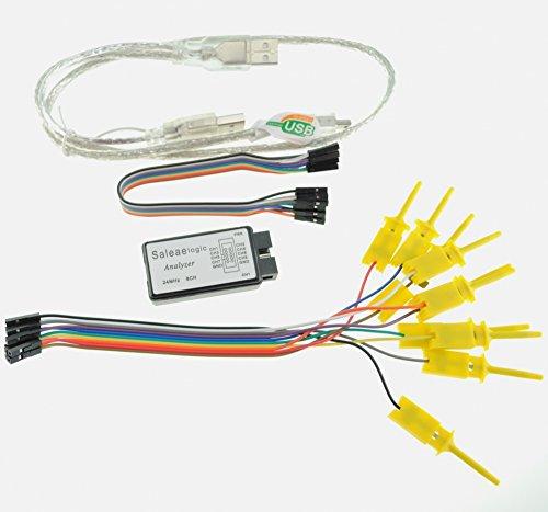 satkit Logico 24MHz 8CH Kompatibel mit Analysator der Software Saleae USB Logic