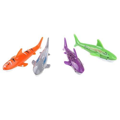 B Blesiya 4Pcs Tauchen Spielzeug Torpedo Unterwasser Schwimmbad Spielzeug - Shark Torpedo