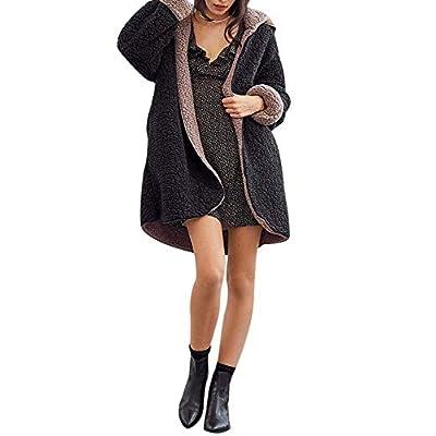 Amazon - Save 50%: Women Casual Long Sleeve Berber Fleec Winter Hooded Cardigan Coat W…