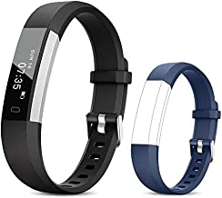 TOOBUR Fitness Activity Tracker Watch for Kids Girls Women, Pedometer, Calorie Counter, IP67 Waterproof Step Counter Watch with Sleep Monitor and Vibrating Alarm Clock (Black/Blue)