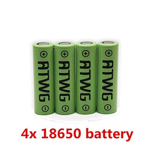 Paquete de 4 baterías recargables de alta capacidad 3.7 V, sin efecto memoria