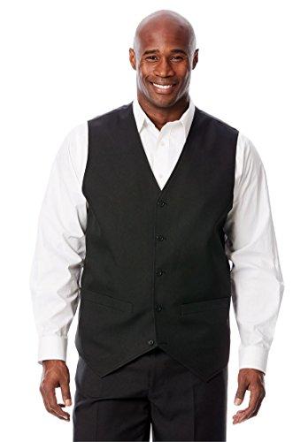 KingSize Men's Big & Tall Easy Movement 5 Button Suit Vest by Ks Signature,