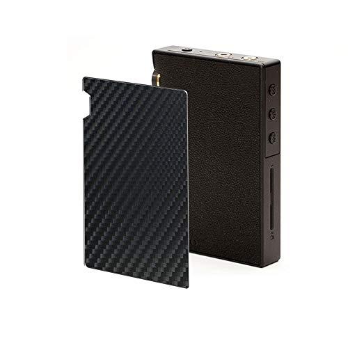 VacFun 2 Piezas Protector de pantalla Posterior, compatible con ONKYO rubato DP-S1A / DP-S1 / Pioneer private XDP-30R / XDP-20, Película de Trasera de Fibra de carbono negra