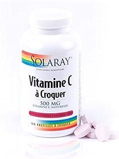 Solaray–Vitamina C 500mg–Energie tono Vitalité–Frasco
