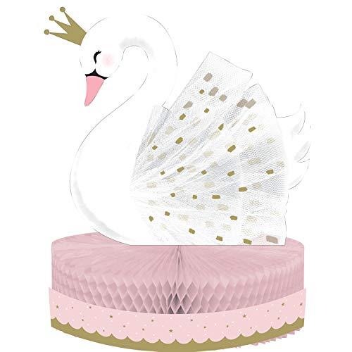 Creative Party PC344423 - Centrotavola a nido d'ape, motivo: Principessa cigno, 1 pezzo