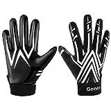 Gonex - Guantes de fútbol Americano para Juegos de Rugby, jóvenes, Adultos y Hombres, Color Negro, tamaño Medium