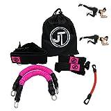 JT Fitness Booty Band Belt, banda de resistencia para piernas en casa, gimnasio, entrenamiento, fitness, rosa