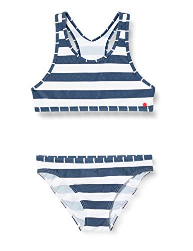 ESPRIT Mädchen North Beach YG Bustier+Brief Bikini-Set, Blau (405 Dark Blue), 140/146