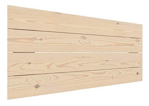 LA WEB DEL COLCHON - Cabecero de Madera Rústico Vintage para Cama de 90 (100 x 44 cms.) Crudo sin Pintar | Cabeceros Madera | Dormitorio Matrimonio | Cabezal Cama |Estilo nórdico