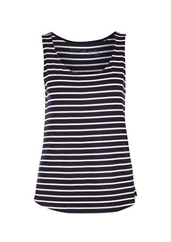 s.Oliver Damen 04.899.34.3794 Top T-Shirt, Dark Blue Stripes, 38