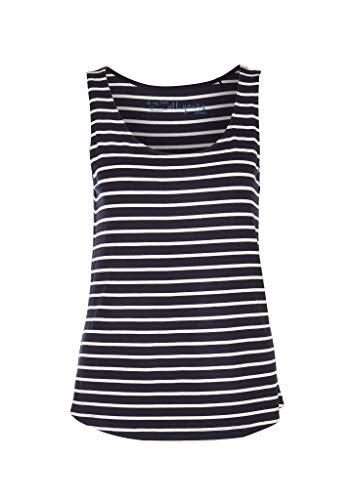 s.Oliver Damen 04.899.34.3794 Top T-Shirt, Dark Blue Stripes, 36