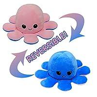 元のリバーシブルタコぬいぐるみ、おもちゃは言葉を言わずにあなたの気分を見せることができます!,Pick&darkblue