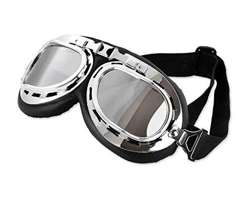 SCSpecial Gafas Moto Vintage Aviadoras Gafas para Moto Anti UV y Prueba de Viento Gafas Motoristas para Cascos Moto Harley y Chopper Resistente a los Impactos