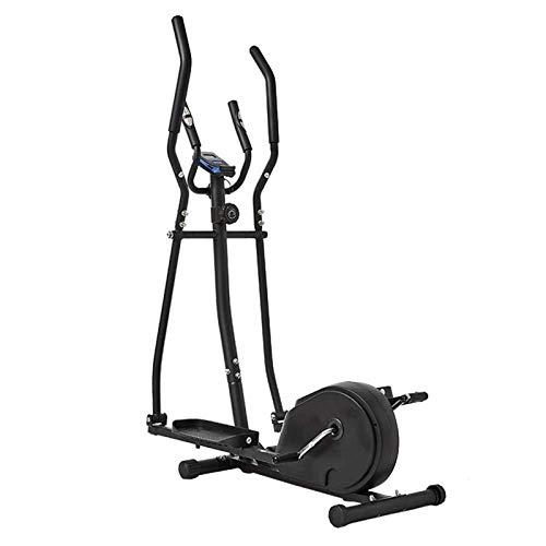 Auoeer Entrenador Cruzado Máquina elíptica Cruz Entrenador 2 en 1 Ejercicio Bike Cardio Fitness Home Gym Equipmen Magnetic Cardio Workout 156x80x47cm