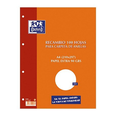 Oxford 100430209 - Recambios (100 hojas A4)