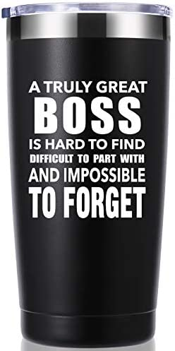 A Truly Great boss is Hard to Find 20 OZ Tumbler Bosses Day Gifts Leaving Moving Appreciation product image