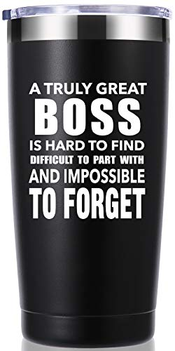 A Truly Great boss is Hard to Find 20 OZ Tumbler.Bosses Day Gifts.Leaving Moving Appreciation Retirement Birthday Christmas Gifts for Women Men Manager Director Boss,Boss Lady Mug(Black)
