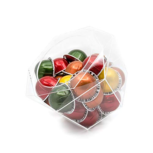 Boîte à Capsules Dolce Gusto, Solution de rangement transparent pour capsules de café Nescafé, Nespresso Vertuo, Tassimo – Peut contenir 40 capsules