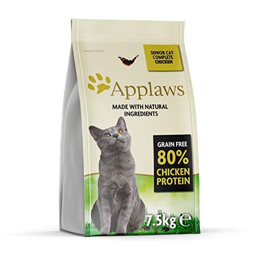 Applaws Komplette natürliche und Getreide frei trockene Katze Essen, Huhn für ältere Katzen, 7,5 kg Tasche