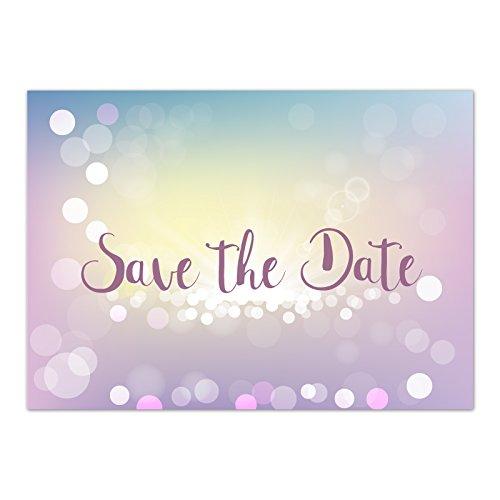 15 x Save the Date Karten mit Umschlag/Zauberhafter Verlauf/Hochzeit/Heiraten/Geburtstag/Einladung/Verkündung