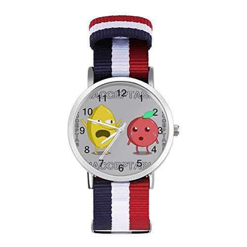 Lemongrab Angry Lemon Adventure Time Unaceptable Leisure Strap Reloj trenzado con escala