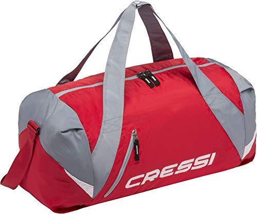 Cressi Palawan Bag, Borsone Pieghevole Idrorepellente per Sport/Nuoto, Rosso/Grigio Taglia Unica
