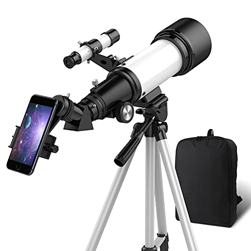 OYS Teleskop, Teleskop für Erwachsene, 70 mm Blende, 400 mm AZ-Halterung, Teleskop für Kinder Anfänger