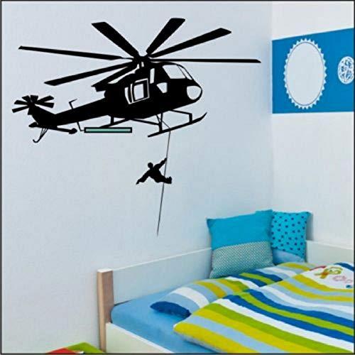 Rettungshubschrauber Wandaufkleber für Büro Schlafzimmer Vinyl Aufkleber Aufkleber 84 * 95cm