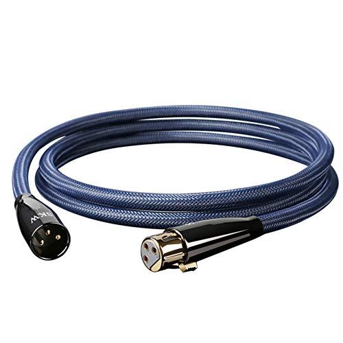 SKW Cable XLR, Cable XLR a XLR Cable XLR3 Balanceado 3 Pin...