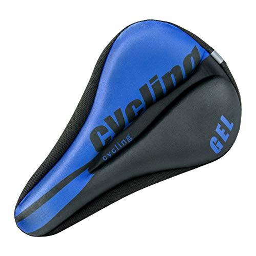 Eariy - Funda para sillín de bicicleta, almohadilla suave, asiento de gel de silicona, asiento de bicicleta, duradero, cómodo, antideslizante y resistente al desgaste, adecuado para bicicletas de montaña, azul
