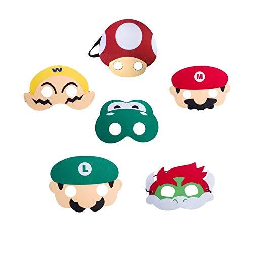 Super Mario Masks Mask 6er Set -...