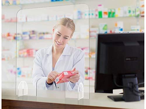 Oedim Mampara de Metacrilato de 4mm | 66x75cm | Pantalla de protección para Bancos, Supermercados, Notarias, Estancos, Farmacias, Clínicas y Dentistas