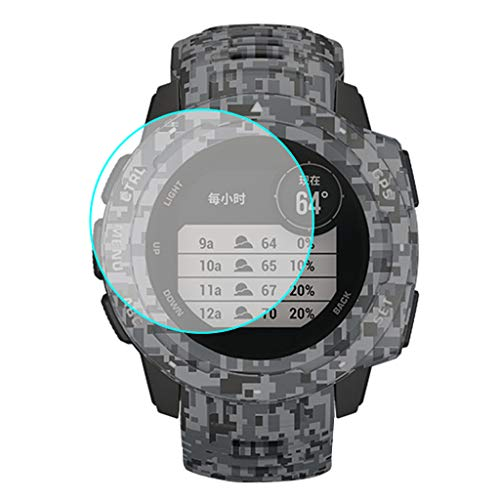 Mypace2 5X Protection d'écran en Verre trempé Compatible avec Garmin Instinct Tactical Watch Flexible Transparent Film de Protection Anti-Rayures Couverture complète sans Bulles Anti-reflet