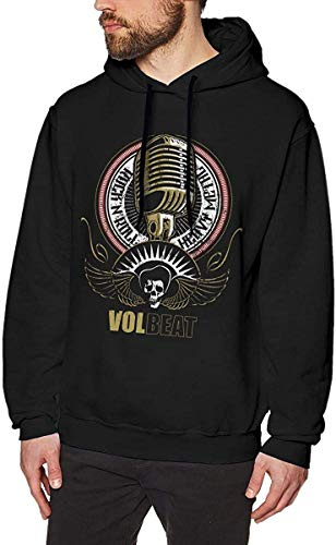 Yougou Anime Gam Volbeat-Kapuzenjacke-Microphone_b3 Casual Sweater Long Sleeve Pullover for Mens Black
