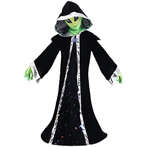 Fantasia de cosplay alienígena para crianças, fantasia de Halloween, fantasia de cosplay