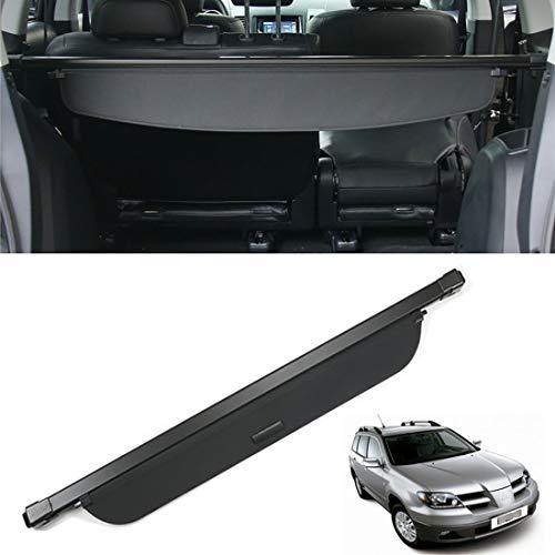 CMHZJ Auto Kofferraumschutz Abdeckung Shielding Security Panel Rollo Für Mitsubishi Outlander 2004-2006, Schwarz Einziehbarer Hinterer Kofferraum Aufbewahrung Paketregal, Autozubehör