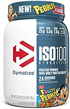 2-Pack Dymatize ISO100 Hydrolyzed Fruity Pebbles Protein Powder