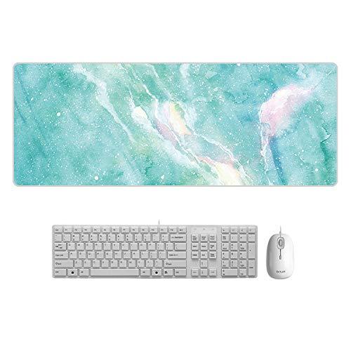WQMousePad Gran Alfombrilla de ratón de mármol Creativo, Mesa de Color, Alfombrilla de ratón Grande, Temperamento, mármol Fresco, 800x300x1.5mm no