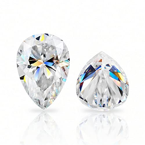 KAVYA JEWELS 25 Carat Pear Cut Colorless VVS1 Clarity Loose Moissanite Diamond Stone Use for Pendant/Rings/Earrings/Necklace/Jewelry Gemstone Gift for Men/Women