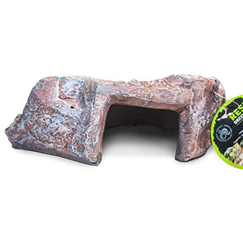 Komodo Rock Den, Large, Brown, Reptile Hideout, Reptile and Amphibian Decor, Rock Den, Reptile Cave, Terrarium, Vivarium & Aquarium Decor