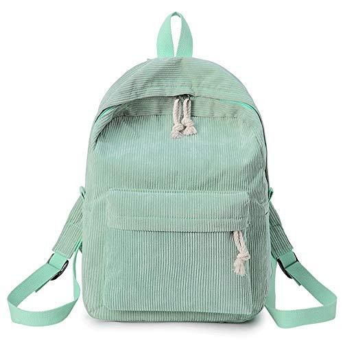 Angle-w diseño elegante, viajes sencillos, La nueva mochila de terciopelo a rayas estudiante mochila de ocio al aire libre, deportes de ocio bolso de gran capacidad multiusos bolsa de negocios ordenad