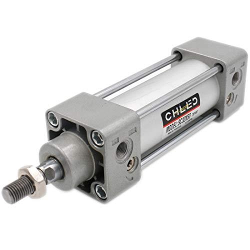 Heschen, Pneumatischer Standard-Druckluftzylinder, SC 32-50, PT-1/8-Anschluss, 32 mm Bohrung, 50 mm Hub, Einzelzylinder mit Doppelfunktion