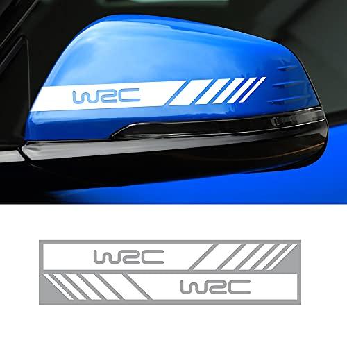 MLHH 2 unids/Set Pegatina de Espejo retrovisor de Coche Cubierta de calcomanía de Vista Trasera Raya Lateral decoración de Estilo de carrocería Accesorios Subaru WRC