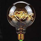 TIANFAN Bombillas de luz vintage led 4 vatios regulable amor carta hogar bombillas decorativas 220/240V E27 lámpara de mesa (flecha)