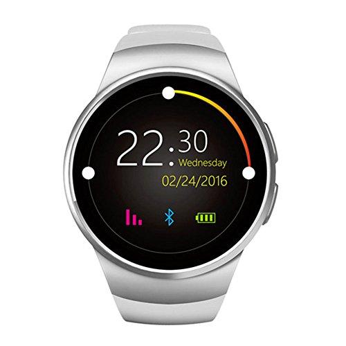 Bluetooth Smart Watch, keoker 3,3cm IPS rund Touchscreen wasserabweisend Smartwatch Telefon mit SIM-Karten Slot Schlaf Monitor Herzfrequenz Monitor und Schrittzähler für IOS und Android Gerät