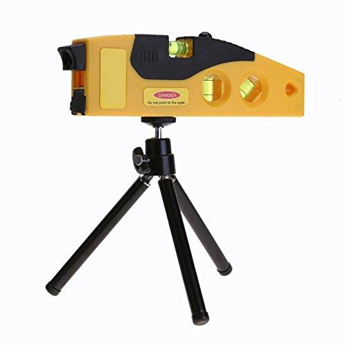 DAXGD Laser-Wasserwaage Lineal, für horizontale und vertikale Messung mit Stativ, Genauigkeit 0,05 mm
