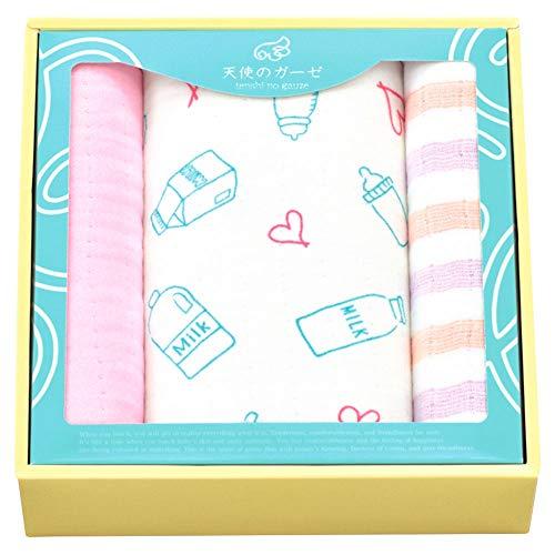 日繊商工 タオルギフトセット ピンク フェイスタオル:約33×80cm、バスタオル:約70×120cm