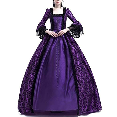 GladiolusA Disfraz De Medieval para Mujer Vestido Renacentista Traje De Princesa